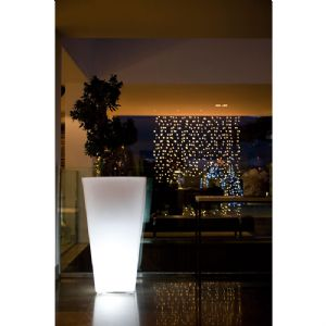 Illuminated designer tall planters with easy watering system online at potstore.co.uk